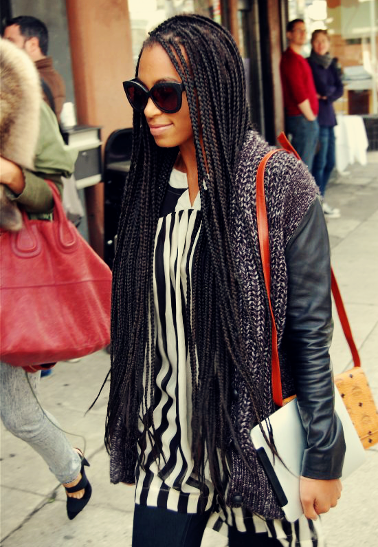 solange box braids long