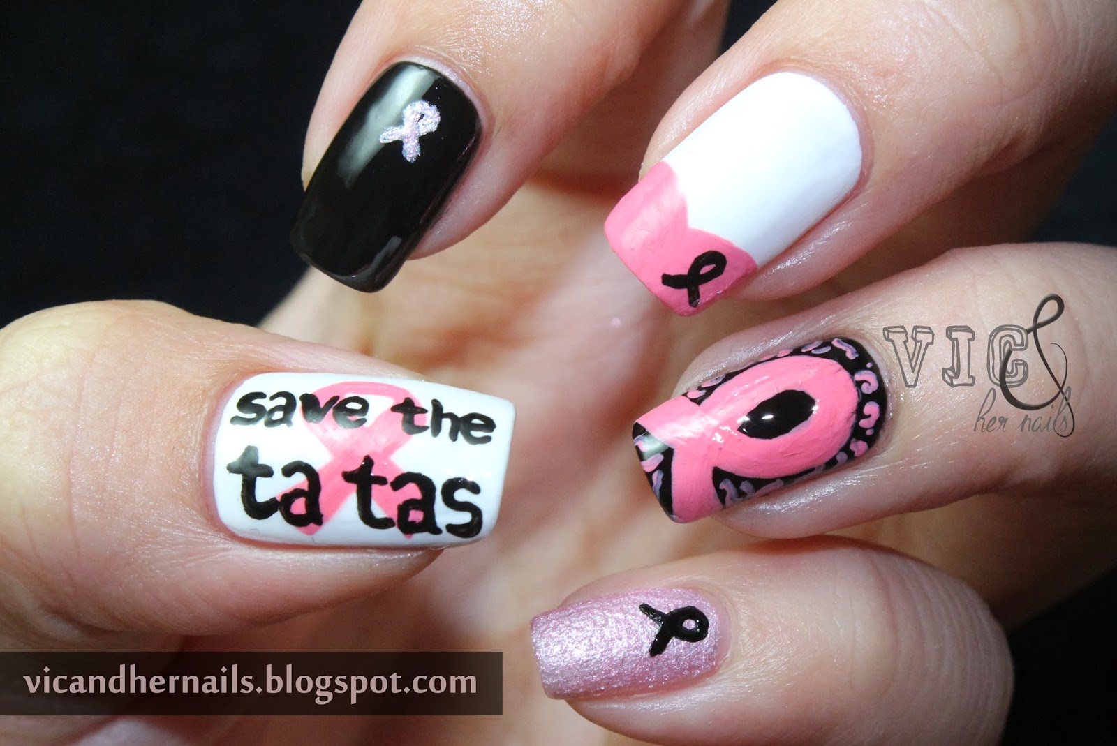 Vic and Her Nails: October N.A.I.L. - Theme 1: Breast Cancer Awareness