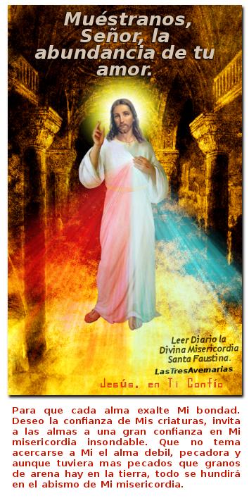 divina misericordia con oracion y mensaje de amor para ti