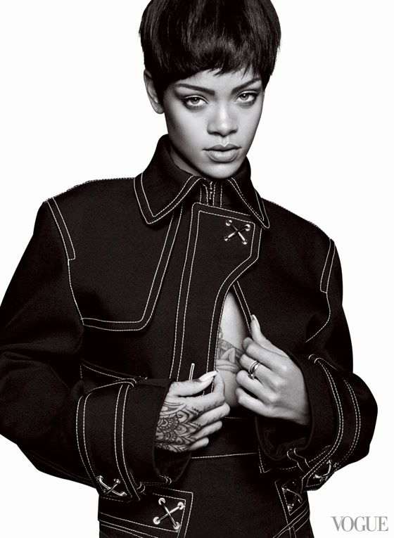 Vogue US March 2014 - Rihanna by David Sims