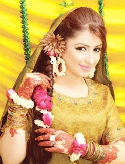 Latest Bridal Mehndi Dresses 2013 & Hairstyle