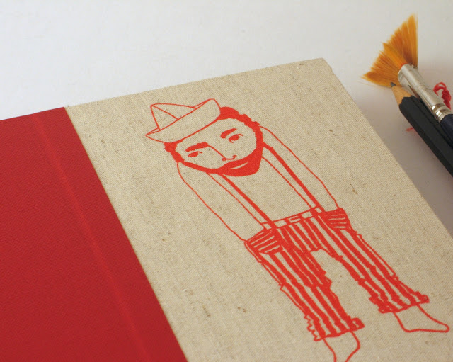 red sailor sketchbook by Arte e Luar Bookbinding