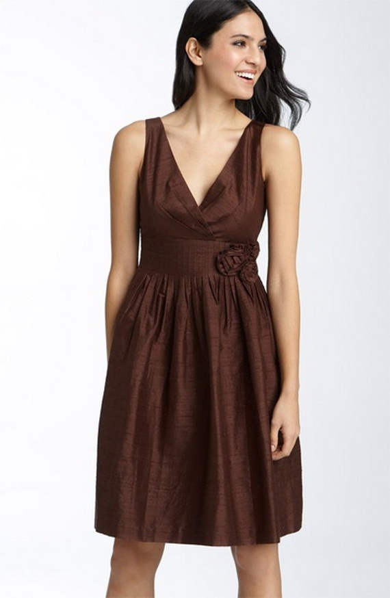 Elegant brown bridesmaid dresses for Brown dresses for wedding