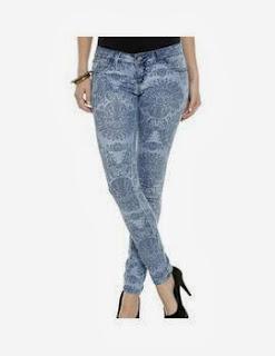 Modelos calças Jeans Estampadas 2014