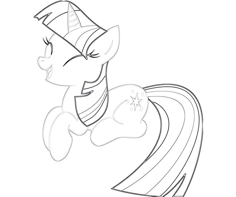 #18 Twilight Sparkle Coloring Page