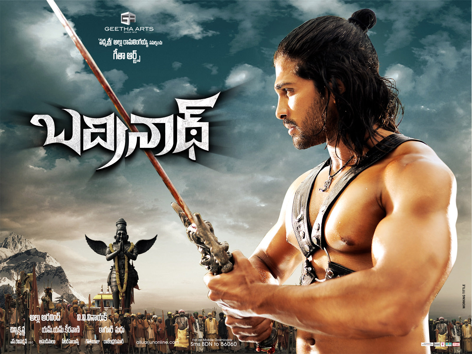 Allu Arjun Badrinath Movie New Wallpapers   Celebrity Hairstyle