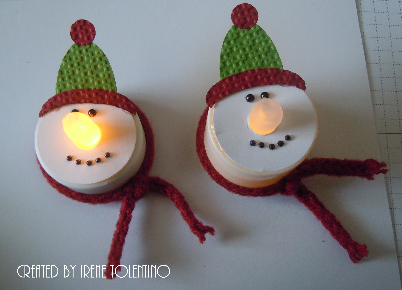 Snowmen Tea Lights