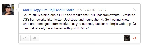 A PHP Discussion that I posted.