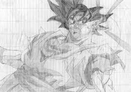 Disegni Di Tutto Goku Disegno A Matita Su Foglio A Righe