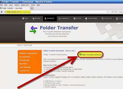 Cara Transfer File dari PC ke PC dengan Folder Transfer