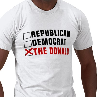donald trump for president bumper sticker. But back to The Donald.