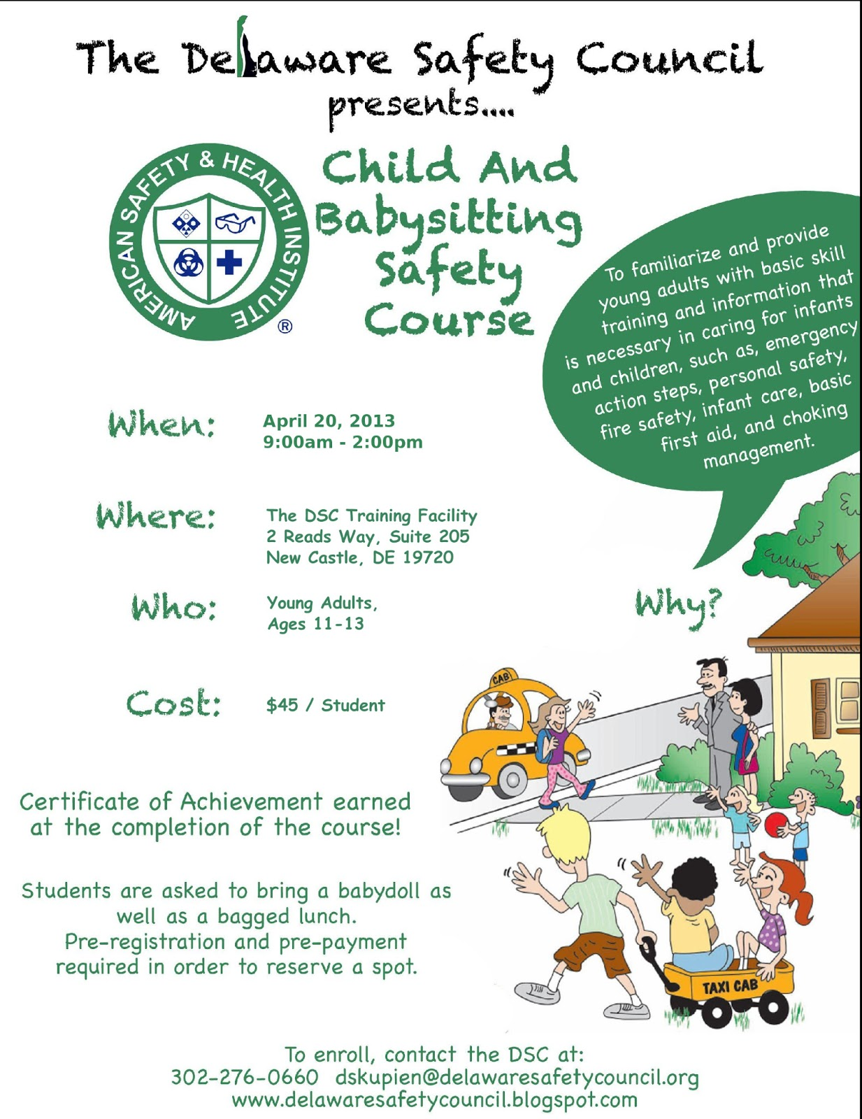 Child And Babysitting Safety Course Scheduled For April 20 2013
