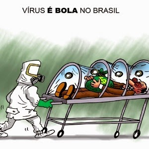 Ebola, aqui  é  embora..