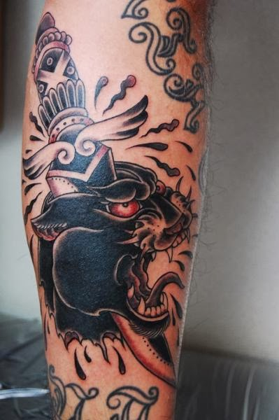 Art kore tattoo blog old school tradicional 1 parte for Old school panther tattoo
