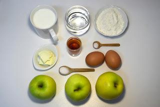 Creps con manzana y vino dulce - ingredientes