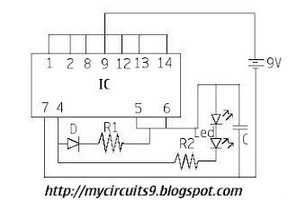 Simple led emergency light circuit my circuits 9 emergency light circuit diagram ccuart Image collections