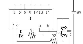 simple led emergency light circuit