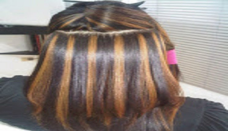 mechas negras con marron