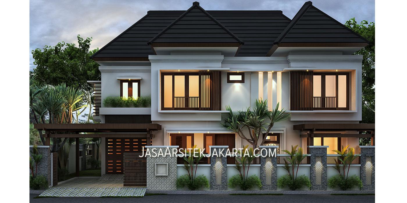 desain rumah 5 kamar luas 330 m2 bp havid di malang jasa