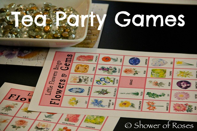 Shower of Roses: Little Flowers Girls' Club Tea Party Games