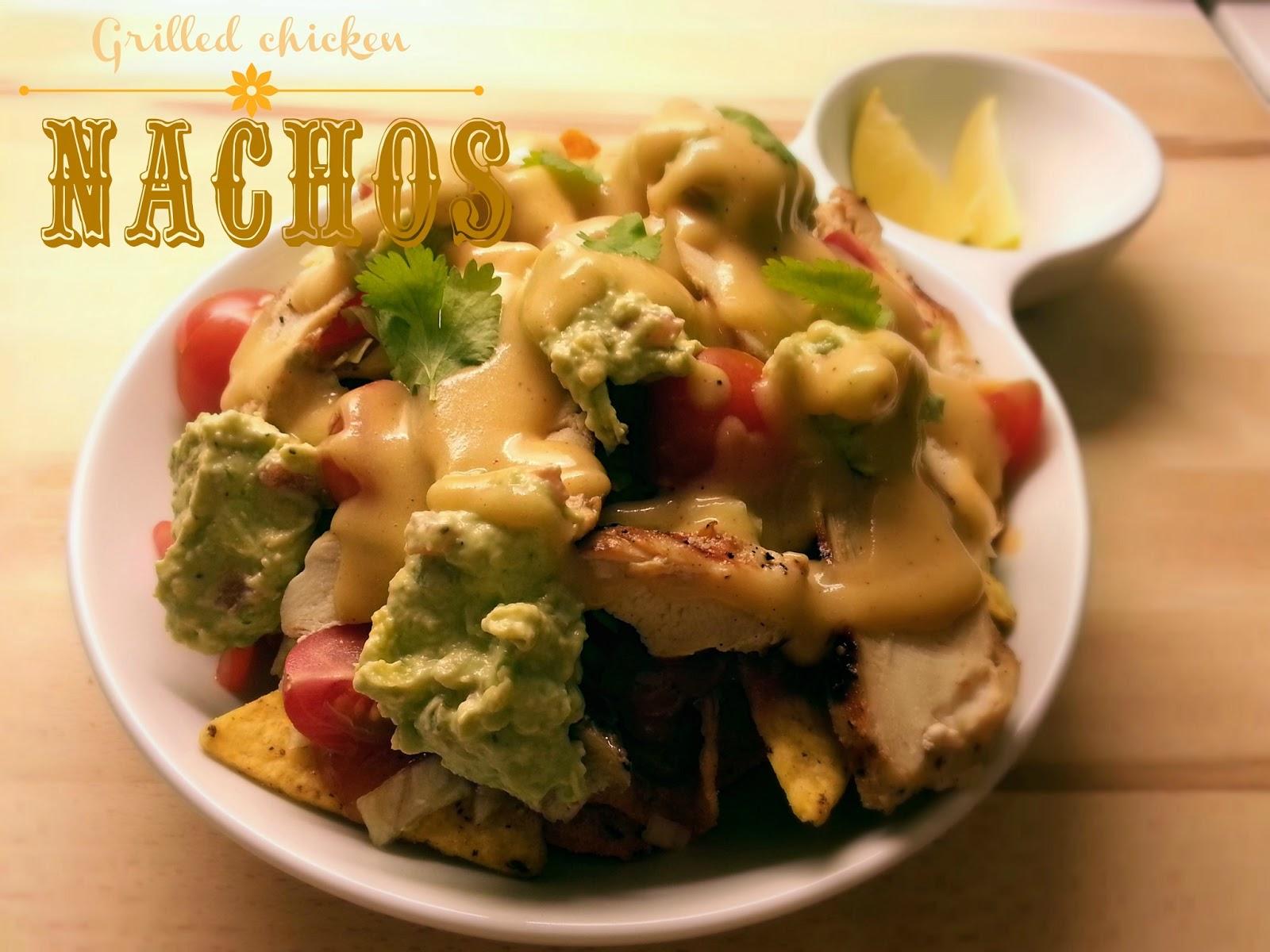Easy Peasy Grilled chicken nachos