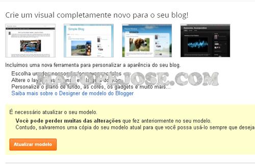 Novos Modelos do Blogger