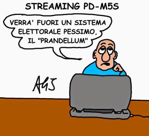 M5s, PD, Prandelli vignetta