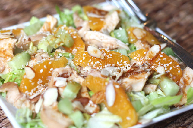 Chinese Chicken Salad with Ginger Sesame Dressing recipe by Barefeet In The Kitchen