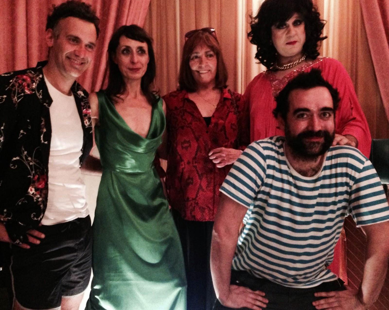 De izquierda a derecha, Iván Ugalde, Carmen Mayordomo, Carmen Maura, Fran Arráez y Carlos Be - Fotografía de The Zombie Company