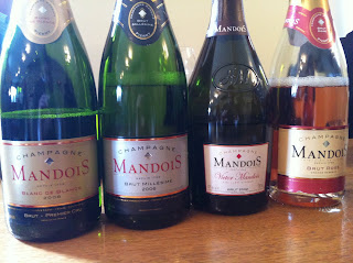 "Tasting session @Mandois (10am!): ""Blanc de Blanc"", ""Brut"", ""Victor"", ""Brut Rosé"""