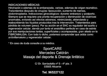 - Indicaciones médicas