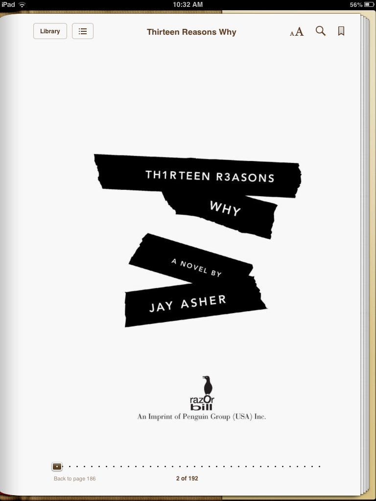 13 reasons why book review Read what people think about thirteen reasons why by jay asher, and write your own review.