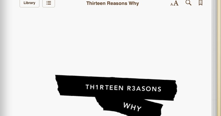 """13 reasons why book review Book review by saima bukhtiar """"no matter what he does, every person on earth plays a central role in the history of the world and normally he doesn't know it."""