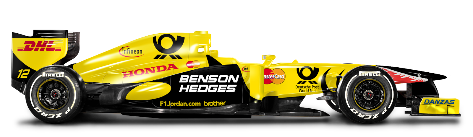 Retro F1 Car Jordan 2001 De Bastiani Design