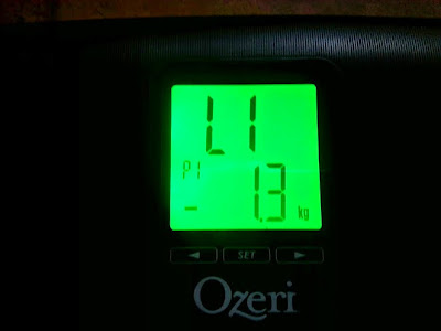 Ozeri Weightmaster II 200kg Digital Bathroom Scale Review close up digital display