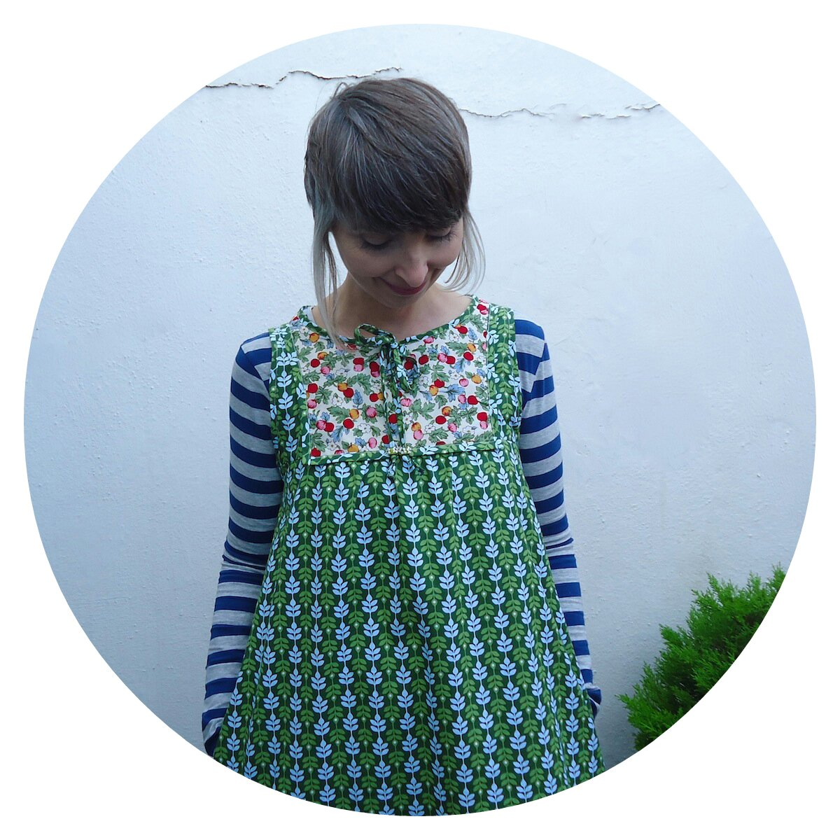 Poppy Tunic in Soft Cactus Lasting Leaves, made by Ivy Arch