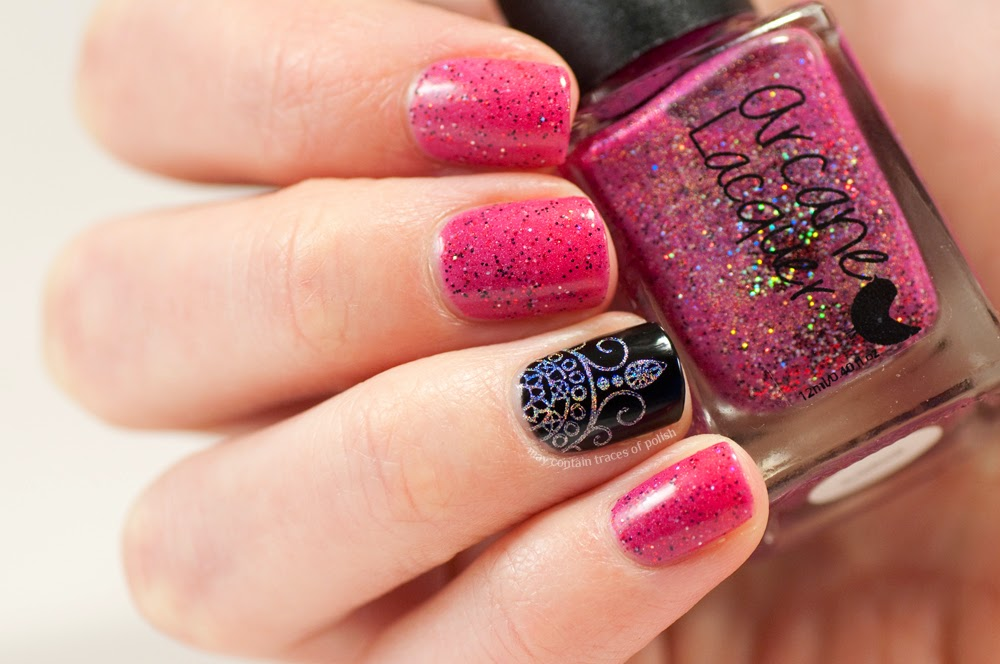 Arcane Lacquer - An Amorous Disposition accent nail art - May ...