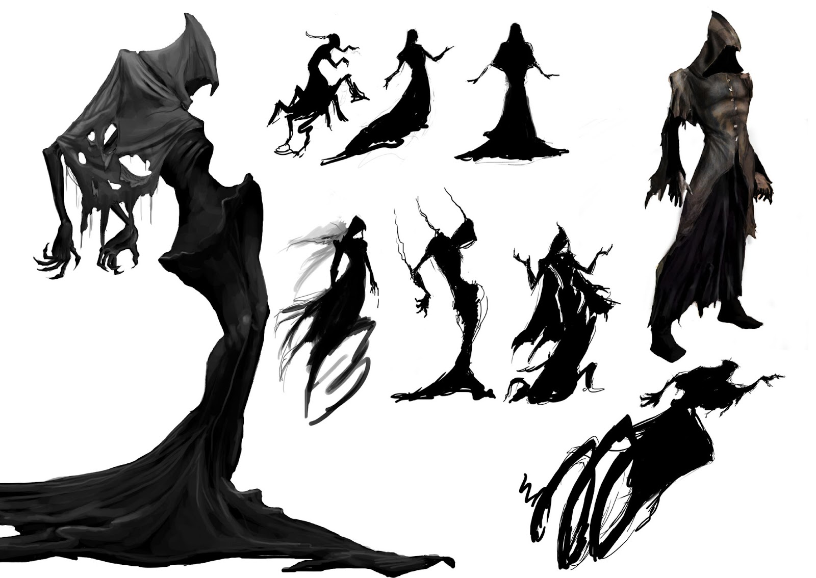 Brushes For Character Design : Lamin illustration design dark canvas a brush with death
