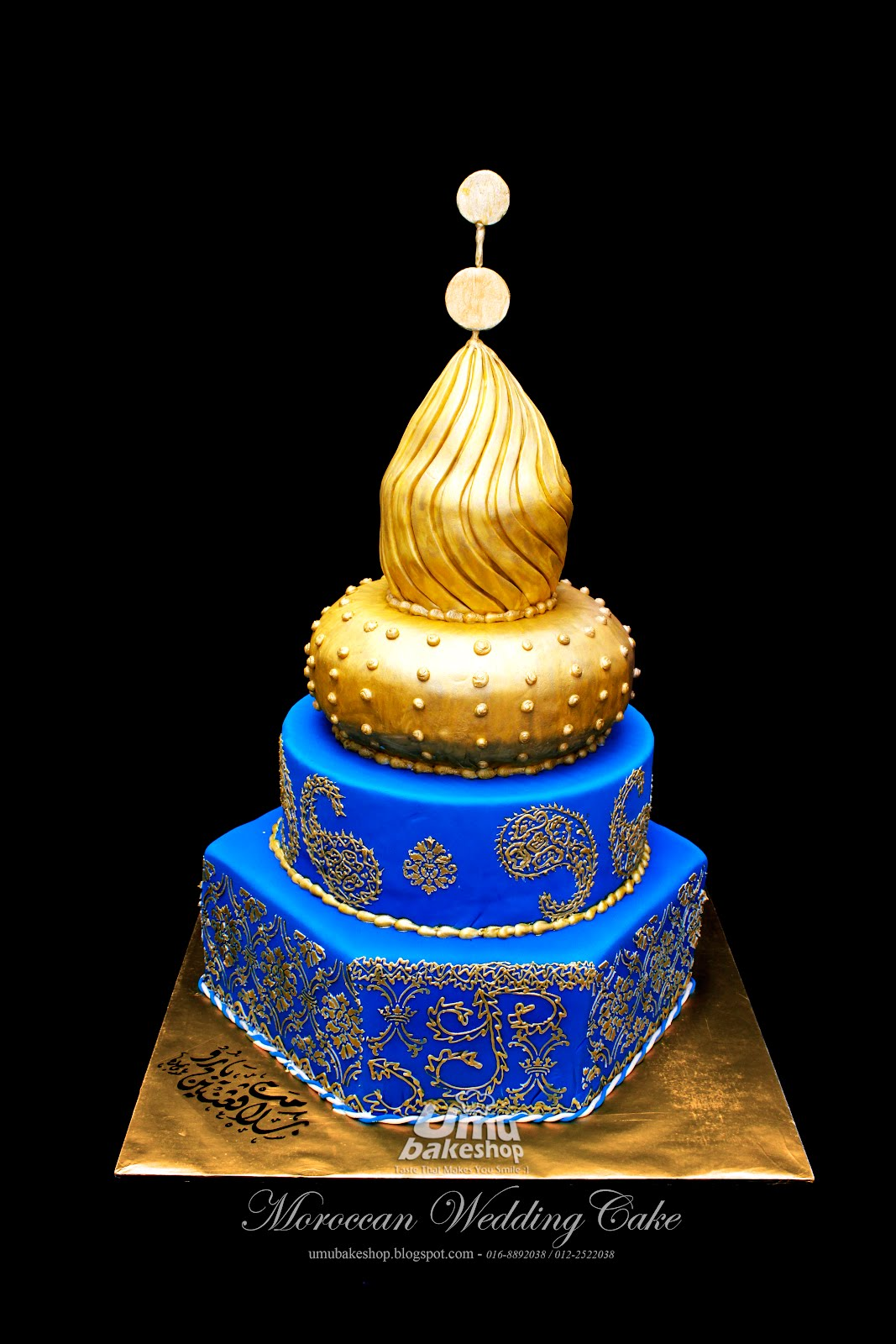 Moroccan wedding fondant cake umu bake shop for Arabian cake decoration