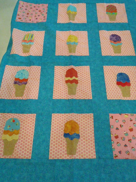 Ice Cream Cone Applique Quilt