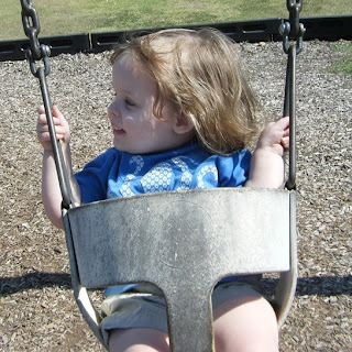Sasha on swing #1