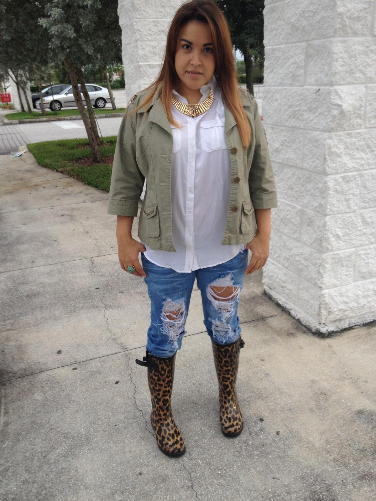 Flawless Fashionista Styles: Leopard Rain Boots