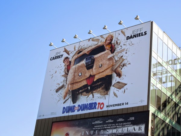 Giant Dumb and Dumber To movie billboard