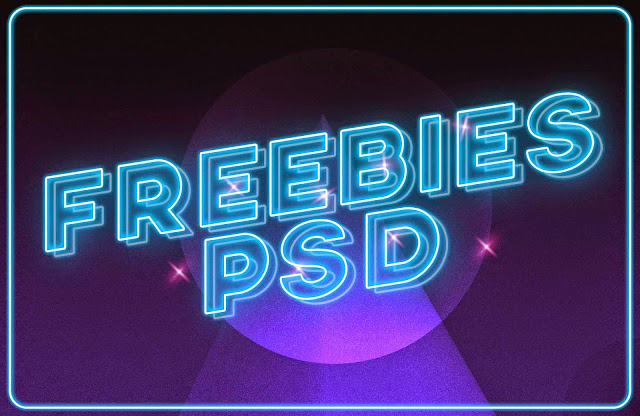 Neon Text Effect PSD Free Download