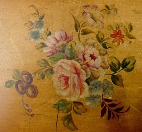Vintage painted sewing box