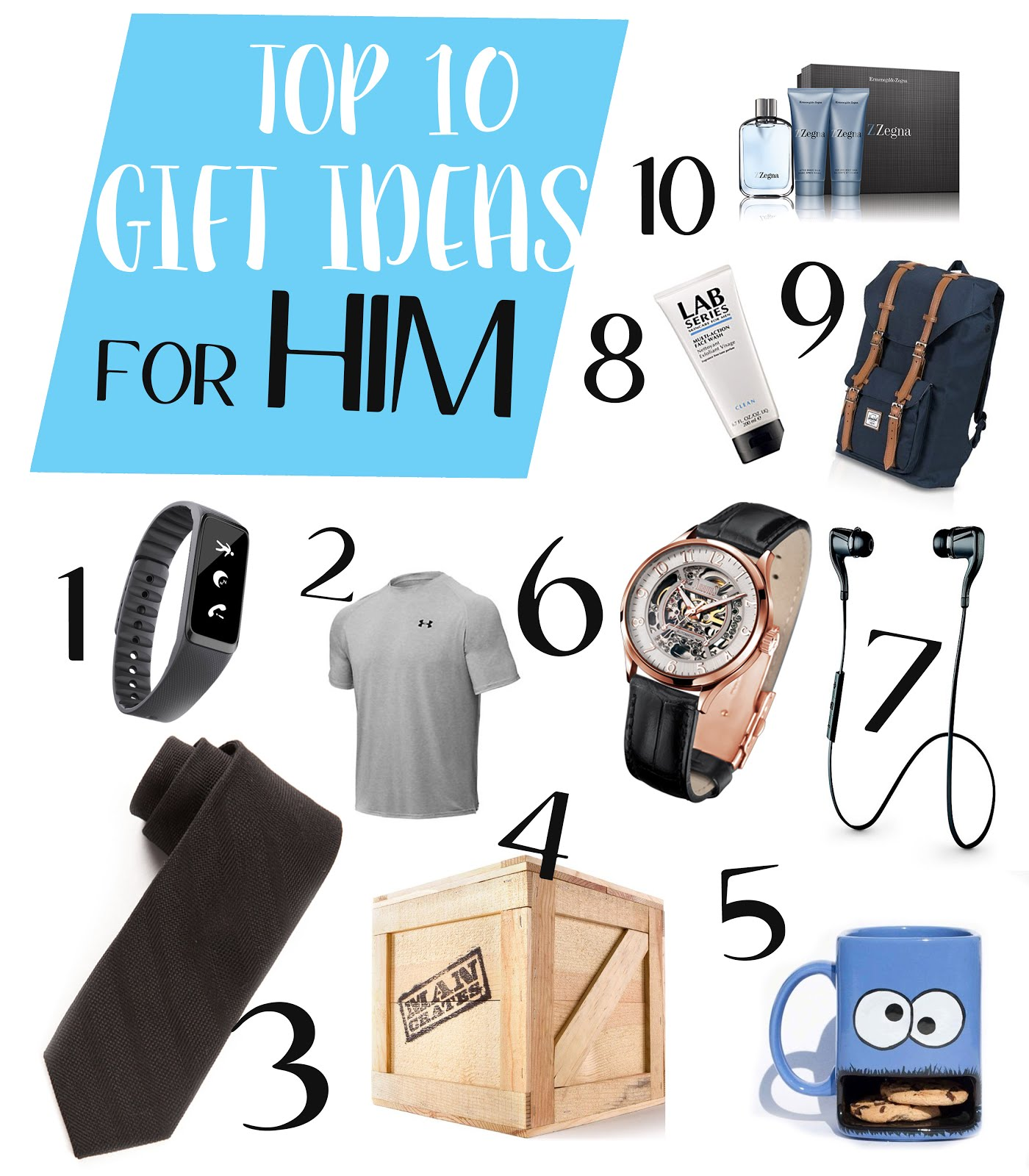Top 10 gifts for him for christmas