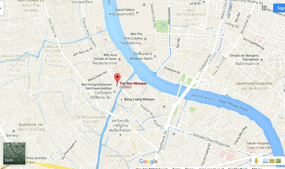 Ton Son Mosque Bangkok Map Tourist Attractions in Bangkok – Bangkok Tourist Attractions Map