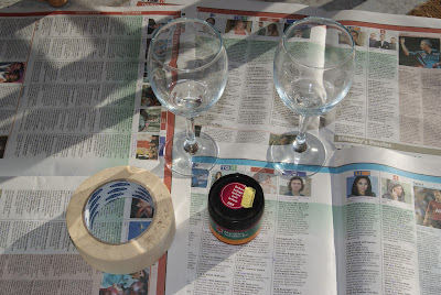 What you need to make your chalkboard wine glasses