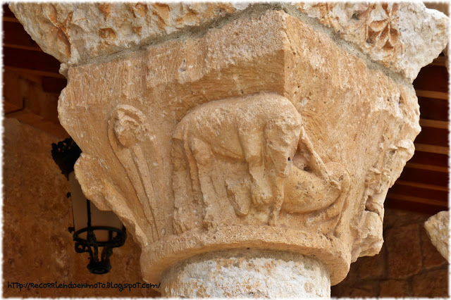 capitel de iglesia romanica Ntra Sra del Rivero, San Esteban de Gormaz