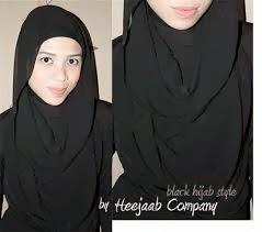 jilbab warna hitam